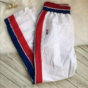 Detroit Pistons, 90s Champion Team Issued Detroit Pistons Tearaway Pants White 94-95 Mens 40 Vintage Champion Detroit Pistons Pants USA